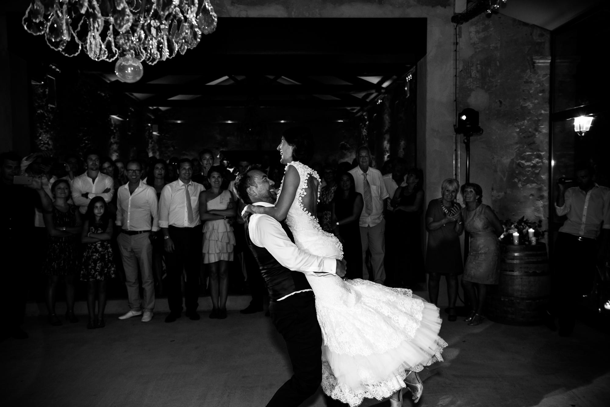 moment autour de la première danse